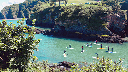 Paddleboarding Coastal Tour with Lunch for Two in Devon
