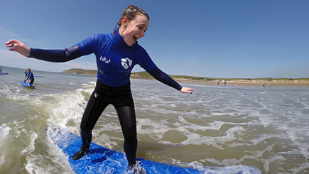 Introduction to Surfing for Two in Devon