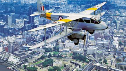 75 Minute Biplane Sightseeing Tour of London for Two