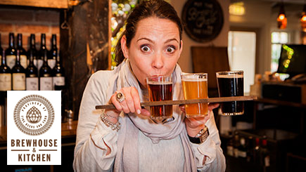 Beer Tasting Masterclass and Meal for Two at Brewhouse and Kitchen
