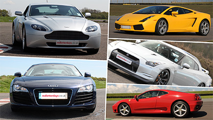 Six Supercar Blast with Hot Ride