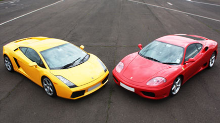 Lamborghini vs Ferrari Driving Thrill at Dunsfold Park