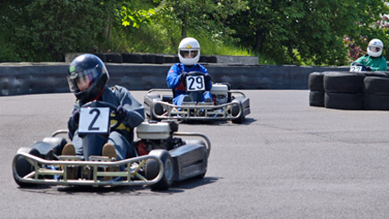 Outdoor Grand Prix Karting at Castle Combe