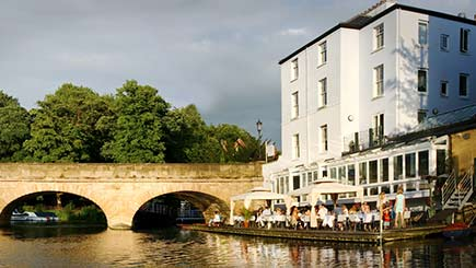 Riverside Three-Course Meal with Wine for Two at The Folly, Oxford