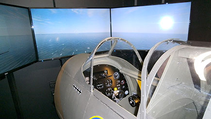 30 Minute Spitfire Simulator Flight in Bedfordshire
