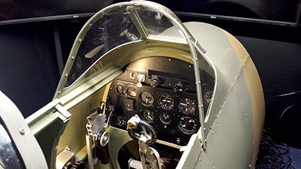 Spitfire and Messerschmitt Simulator Dogfight for Two in Bedfordshire