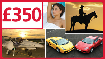 Red Letter Days £350 Gift Card