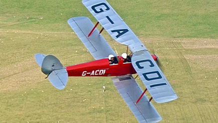 Tiger Moth Aerobatic Flight in Wiltshire