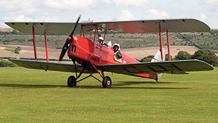 Tiger Moth Flight Over The White Horses of Wiltshire