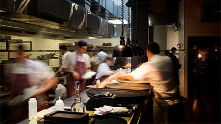 Kitchen Table for Four at  Gordon Ramsay's Heddon Street Kitchen, London