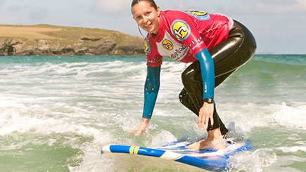 Learn To Surf Experience For Two In Cornwall