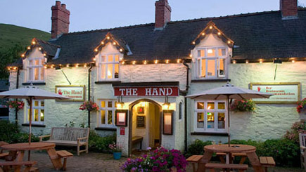 Two Night Hotel Escape for Two at The Hand at Llanarmon, Denbighshire