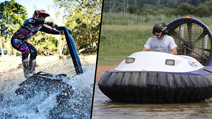 Hovercraft Racing Blast and All-Terrain DTV Shredder Experience