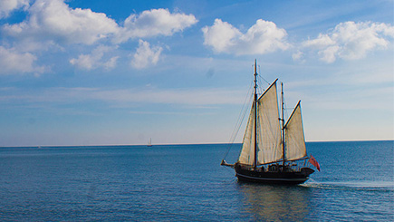 Five Hour Tall Ship Sailing Trip for Two in Dorset