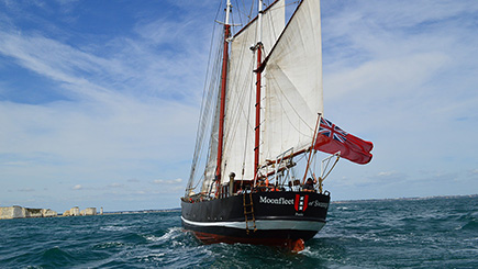 Six Hour Tall Ship Sailing Trip for Two in Dorset