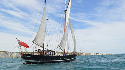Four Hour Tall Ship Sailing Trip for Two in Dorset
