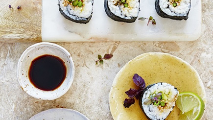 A Taste of Sushi Cookery Course for Two at The Jamie Oliver Cookery School