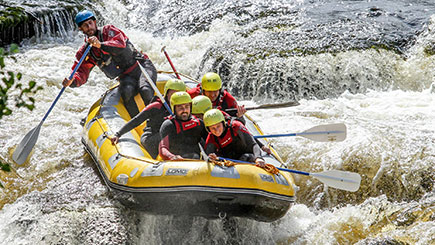 White Water Rafting In Denbighshire, North Wales