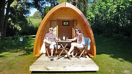 Two Night Family Camping Pod Break in Devon