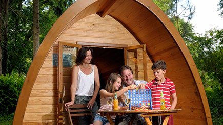 One Night Camping Pod Break for Two at the Langstone Manor Holiday Park in Tavistock, Devon