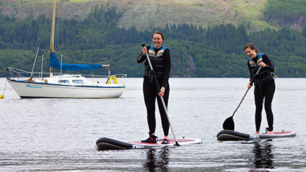 Stand Up Paddleboarding for Two in Loch Lomond