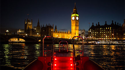 Thames Rockets Evening Powerboating with Cocktail for Two, London