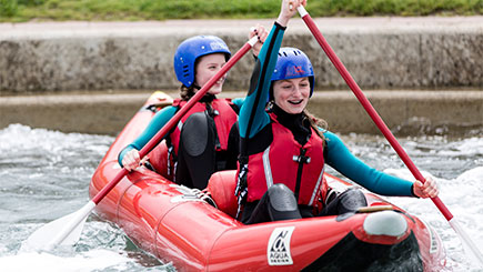 Hot Dog Kayaking for Two at Lee Valley White Water Centre