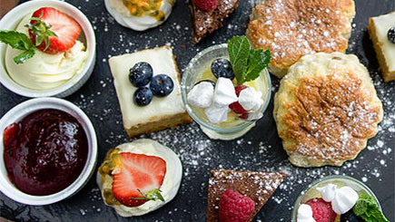 Champagne Afternoon Tea for Two at Makeney Hall Hotel, Derbyshire