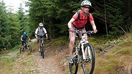 Off-piste Guided Mountain Bike Ride Trek In Wales