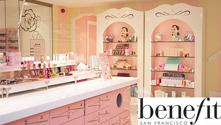 Benefit Makeover with Champagne and Gift Card for Two