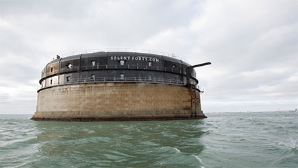 Private Island Hideaway for Two at No Man's Fort in the Solent