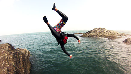 Coasteering for Two in Devon