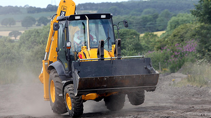 JCB Racing at Diggerland Kent