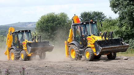 JCB Racing at Diggerland West Yorkshire