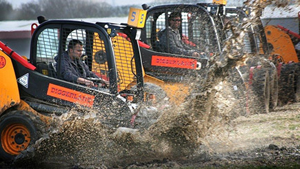 Dumper Truck Racing for Two at Diggerland