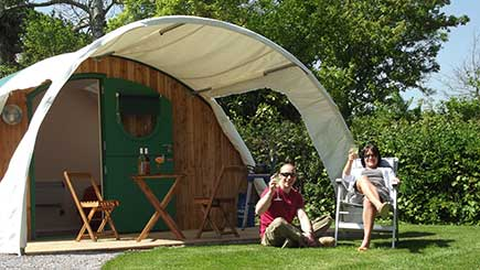 Two Night Camping Pod Break for Two in Somerset