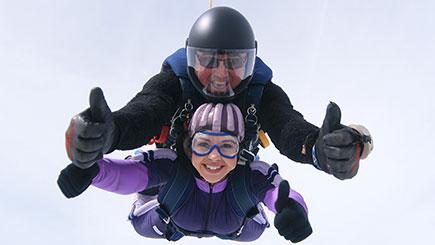 15,000 feet Tandem Skydiving near Durham