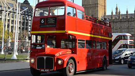 Vintage Bus Tour, Thames Cruise and London Eye for Two