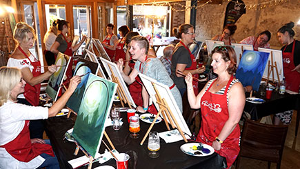 Brush Party Art Experience for Two