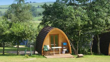 One Night Camping Pod Break for Two in The Lake District