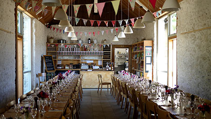 Friday Night Dining for Two at Hugh Fearnley-Whittingstall's River Cottage
