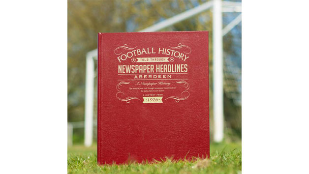 Aberdeen Football Personalised Newspaper Book