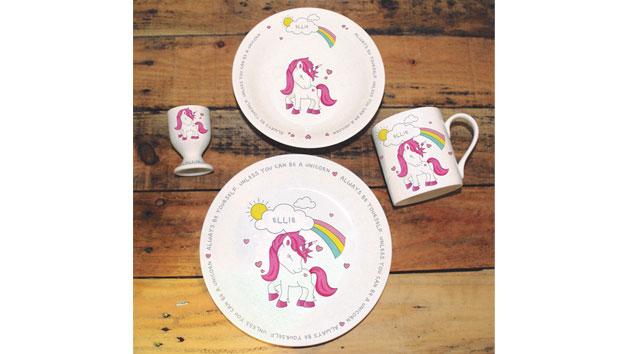 Personalised Unicorn Breakfast Set