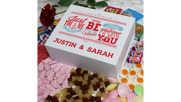 Be My Valentine Luxury Personalised Sweet Box