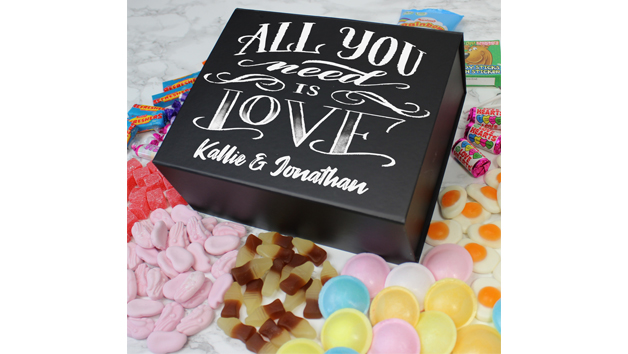 All You Need Is Love Deluxe Personalised Sweet Box