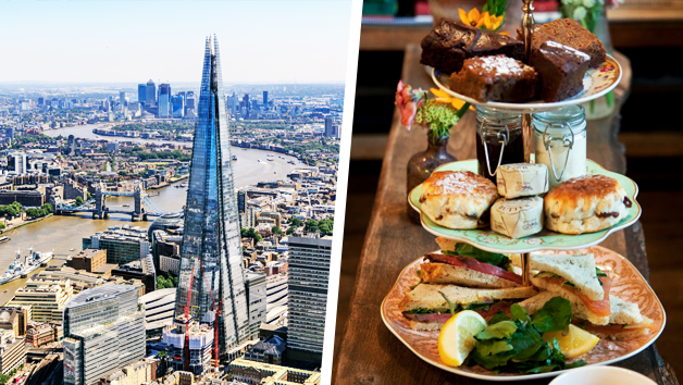 The View From The Shard And Luxury Afternoon Tea For Two