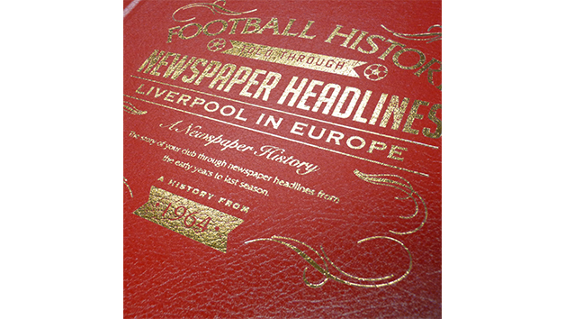 Liverpool Football In Europe Personalised Newspaper Book
