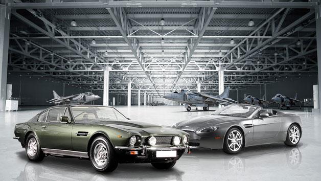 007 Aston Martin V8 Vantage and 70's Vantage Driving Thrill