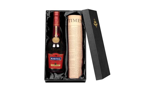 Brandy Martell VSOP Cognac And Newspaper