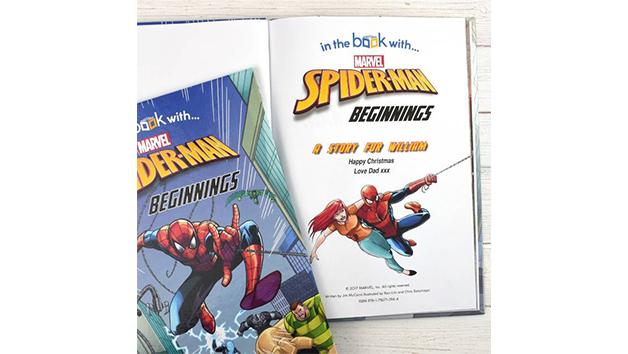 Personalised Spider Man Beginnings Story Book